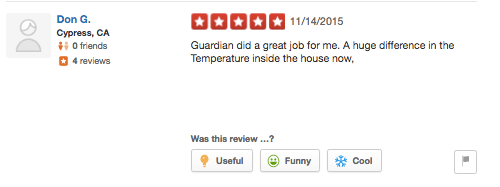 guardian yelp corona temperature