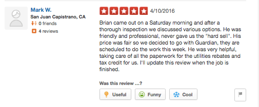 guardian yelp temecula utilities rebates