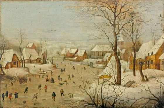 Paysage d'hiver avec trappe aux oiseaux, Huile sur bois, Pieter Bruegel II (c.1564/1565 - 1636) © Bart Huysmans et Michel Wuyts/Anvers, musée Mayer van den Bergh.