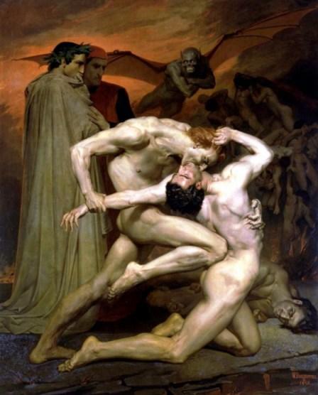 Dante et Virgile aux Enfers (1850), William Bouguereau © Musée d'Orsay