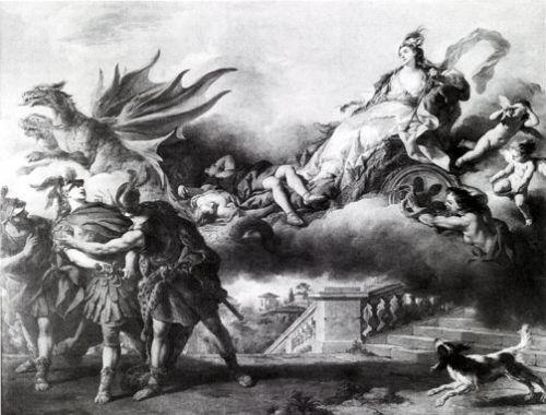 """""""Médée s'enfuit après avoir tué ses enfants"""", J.-F. de Troy, 1746"""