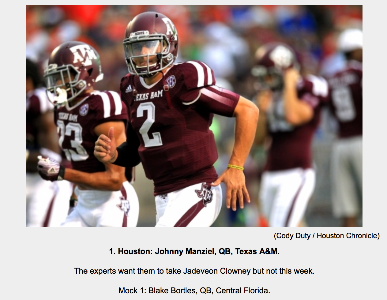 johnny manziel texans mock