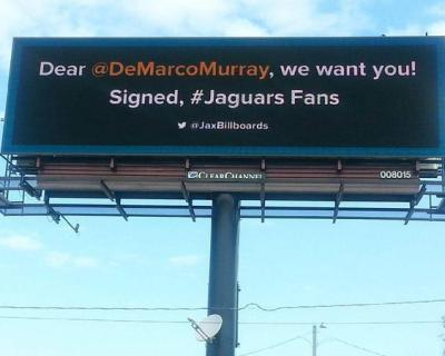 Desperate Jaguars' fans wasted money on billboard for DeMarco Murray (Photo)