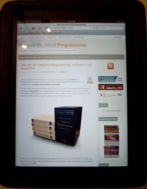 My blog on the iPad