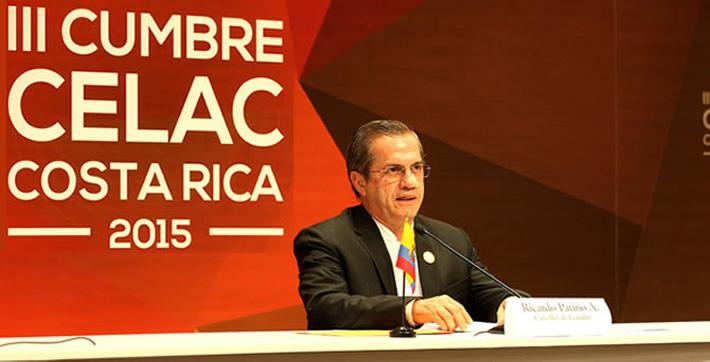 """Canciller del Ecuador: """"La región debe trabajar con objetivos y posiciones comunes"""""""