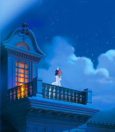 Tiana on balcony