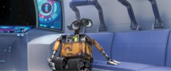WALL-E in the escape capsule