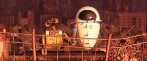 WALL-E and EVE holding hands