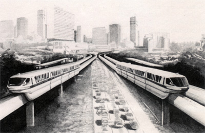 Monorail Cityscape