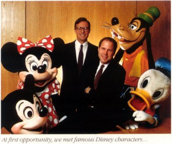Michael Eisner and Frank Wells, 1984