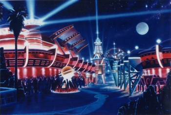 Tomorrowland rendering, Magic Kingdom, Disney World, 1994