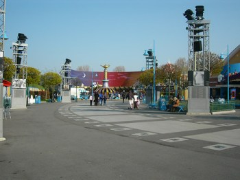 Walt Disney Studios Paris, looking along tarmac