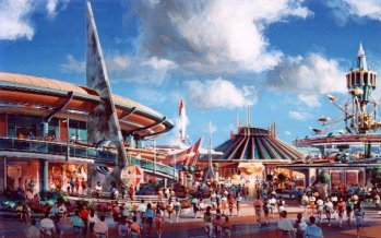Tomorrowland rendering, Disneyland 1998