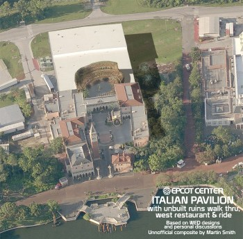 Italy pavilion aerial composite