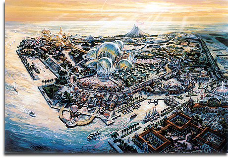 Port Disney - DisneySea - overview rendering, 1990 (small)