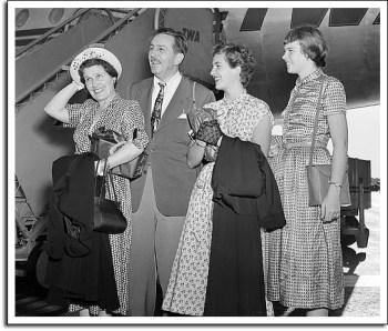 Lillian, Walt, Diane and Sharon Disney, Los Angeles, 1949