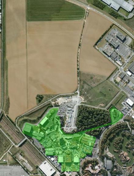 Walt Disney Studios Paris expansion area map