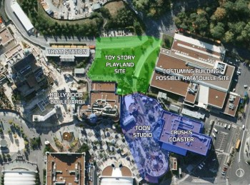 Walt Disney Studios Paris - Toon Studio expansion sites