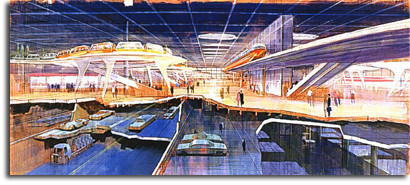 The EPCOT transportation hub (small)