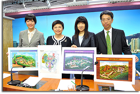 Hong Kong officials display plans for Hong Kong Disneyland expansion