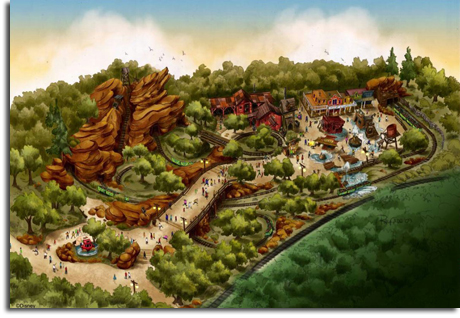 Rendering of Grizzly Trail for Hong Kong Disneyland, 2009