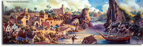Rendering of Pirate-themed area for Hong Kong Disneyland, 2006