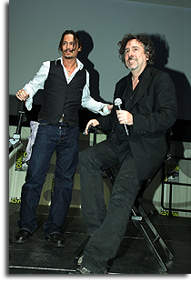 Johnny Depp and Tim Burton at Comic-Con