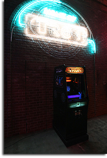 The TRON machine at Flynn's Arcade