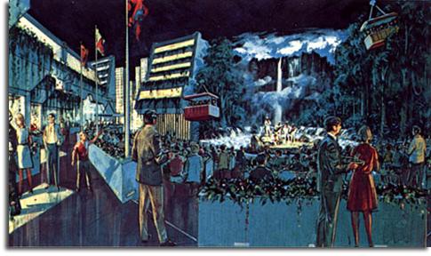 Rendering of Venezuela Pavilion, EPCOT, 1978
