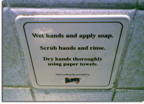 Handwashing instructions at EPCOT