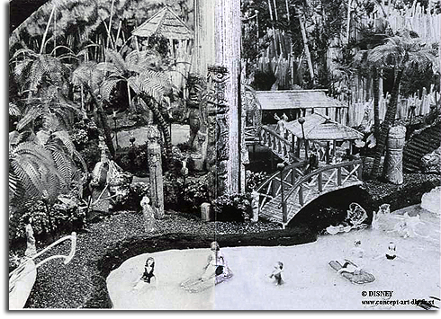 Model of Lava Lagoon, Disneyland Paris