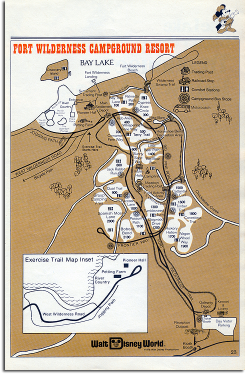 Map of Fort Wilderness, 1978