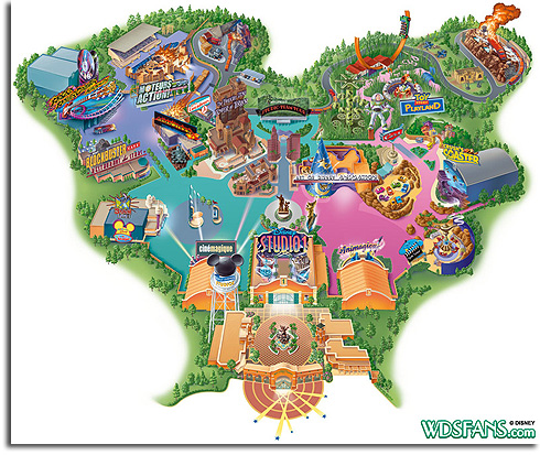 2010 Park Map of the Walt Disney Studios