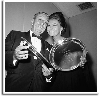 Actress Sophia Loren and Producer Walt Disney, October 1966