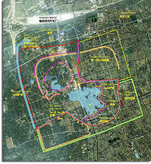 Possible Shanghai Disneyland site plan