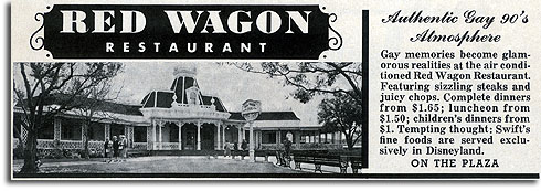 Ad for Disneyland's Red Wagon Inn, 1957