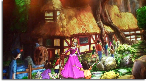 Rendering of Aurora meet-and-greet in the new Walt Disney World Fantasyland expansion