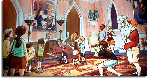 Rendering of meet-and-greet in Beast's Castle from the Walt Disney World Fantasyland expansion