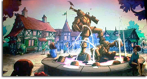 Rendering of Belle's Village in the Walt Disney World Fantasyland expansion