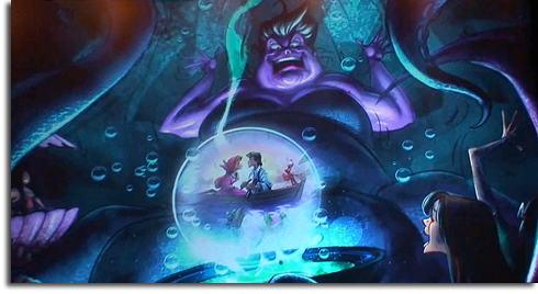 Rendering of Ursula from The Little Mermaid: Ariel's Adventure
