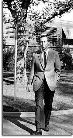 Roy E. Disney on the Disney lot in Burbank, December 1, 1967