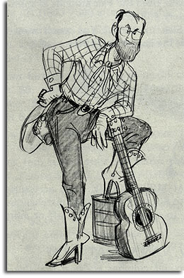 "Caricature of ""Hound Dog"" Mark Greenway by John Musker, 1979"