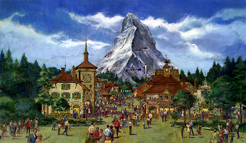 One concept for an Epcot Center Switzerland Pavilion