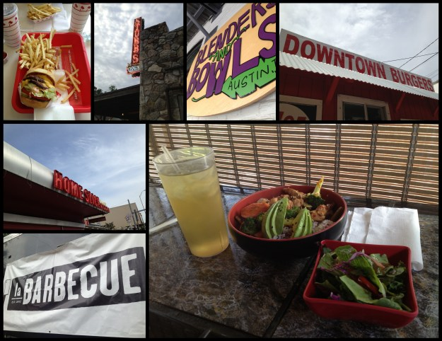 Just a small sampling of when I remembered to take a picture of where (and what) I ate.