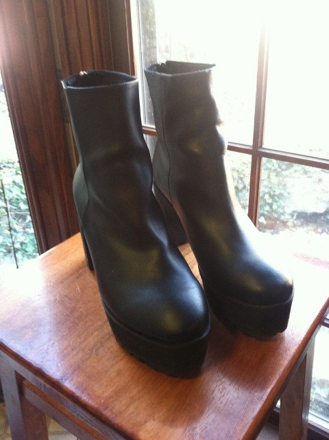 Chunky Platform Boots--$(sale price) normally $140, CHOiES.com.