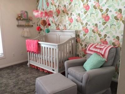 Floral Wallpaper in the Nursery - Project Nursery