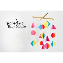 Enchanting Diy Geometric Baby Mobile Project Nursery Colorful Geometric Baby Mobile Project Nursery Diy Baby Mobile Kit Nz Diy Baby Mobile Arm