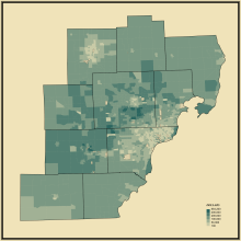 12. Median Housing Value in Detroit-Warren-Ann Arbor, MI