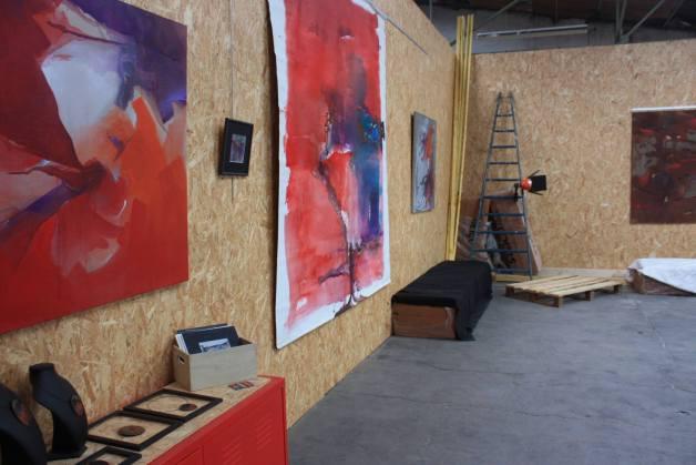 L'atelier personnel de Charlotte Faber, où se trouvent ses peintures