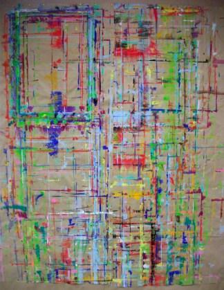 Traces de peinture laissés par d'anciens participants sur les murs